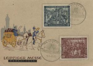 Germany Soviet Zone 12pf+8pf and 24pf+16pf Leipzig Fair Semi-Postal 1949 (10b...