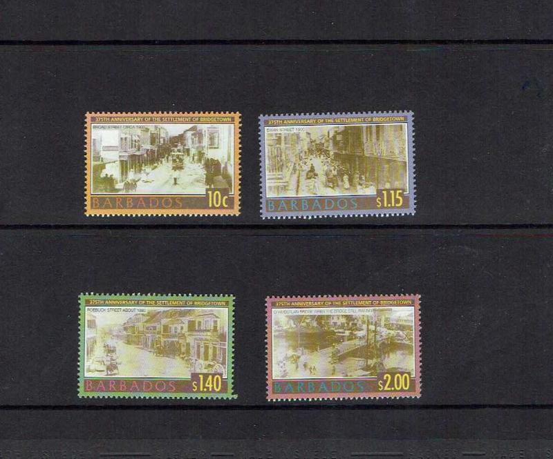 Barbados: 2003 375th anniversary of settlement of Bridgetown, MNH set