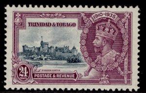 TRINIDAD & TOBAGO GV SG242, 24c slate & purple, M MINT. Cat £14.