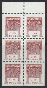 Canada, British Columbia (Revenue) van Dam BCT121, NGAI complete pane
