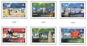 Guernsey Sc 832-7 2004 Europa Holidays stamp set used