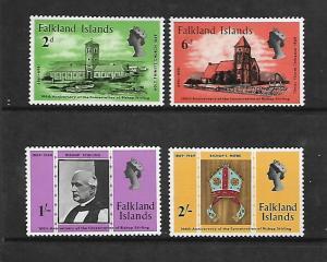FALKLAND ISLANDS, 184-187, MNH, BISHOP STIRLING