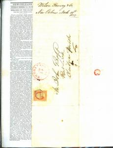 U.S. #11 Used On 11/10/1855 New Orleans Newspaper