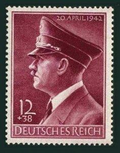 Germany B203,MNH.Michel 813y. Adolf Hitler,53th birthday,1942.