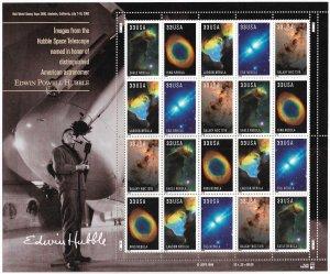 USA 3384-3388 MNH SHEET HUBBLE TELESCOPE