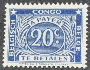 DYNAMITE Stamps: Belgium Congo Scott #J9 – UNUSED