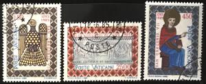 Vatican #758-760 U CV$4 St. Gregory VII/Byzantine Eagle/Basilica