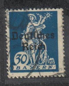 Bavaria, 30pf Electricity, Overprinted (SC# 260) Used