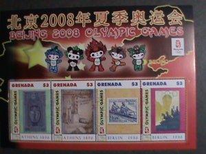 GRENADA STAMP-2008  SUMMER OLYMPIC GAMES BEIJING -MNH MINI SHEET   VERY FINE