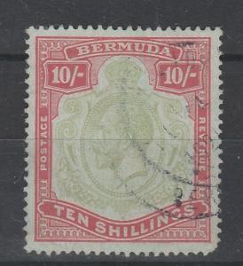BERMUDA 1918 KGV 5/- WMK MULTI CROWN CA PERF 14 SPACEFILLER