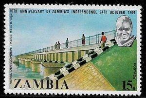 Zambia #124 MNH Stamp - Kafue Bridge