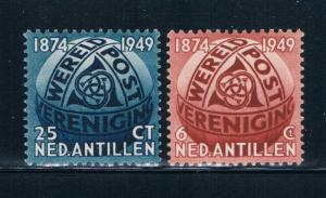 Netherlands Antilles 206-07 MLH set Post Horns (N0426)