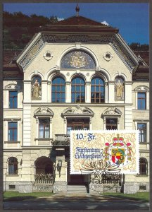 Liechtenstein 1996 75 Years of New Constitution Maxi Card FDC