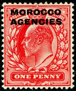 MOROCCO AGENCIES SG32, 1d scarlet, M MINT.
