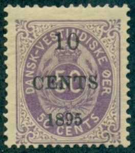 Danish West Indies #15  Mint  Scott $42.50