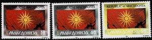 1993 Macedonia Scott Catalog Number 5-7 Unused