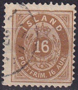 Iceland #27  F-VF Used CV $110.00 (Z7786)