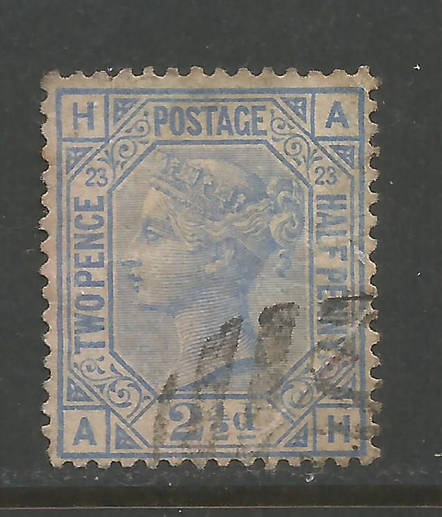 GREAT BRITAIN 82 VFU PLATE 23 K752-5