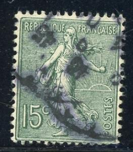 France #139 15c Sower slate grn 1903 used