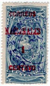 (I.B) Guatemala Postal : Overprint 1c on 10c