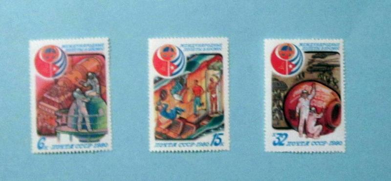 Russia - 4865-7, MNH Set. USSR/Cuba Program. SCV - $1.45