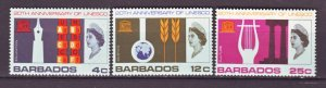 J22208 Jlstamps 1967 barbados set mnh #287-9 unesco