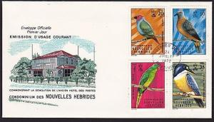 NEW HEBRIDES FRENCH 1972 Birds FDC.........................................68383