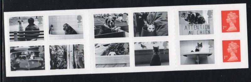 Great Britain Sc 1962b 2001 Pets & Machins stamp booklet pane mint NH