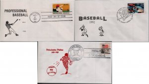 US Baseball First Day and Commemorative Covers #1381, 2619 - Phillies Centennial