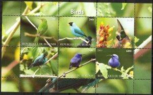 Burundi 2011 Birds (8) MNH Cinderella !