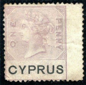 CYPRUS QV Revenue Stamp 1d GB Overprint 1880 MNG Album Page ex Collection YP7