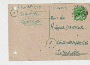 Germany 1948 Berlin Overprint Berlin Schmargendorf Cancel Stamps Card Ref 24032