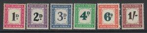 South Africa, Scott J40-J45 (SG D39-D44), MNH