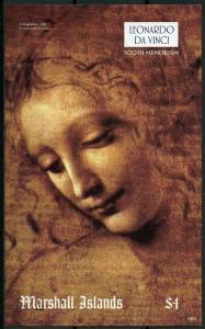 Marshall Islands 2019 MNH Leonardo Da Vinci 1v IMPF S/S Art Paintings Stamps