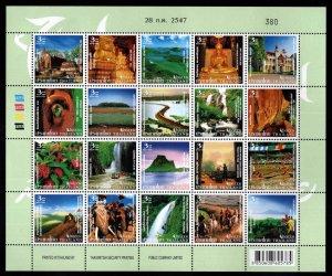 Thailand Scott 2137 MNH** Unseen Tourist Attractions sheet of 20
