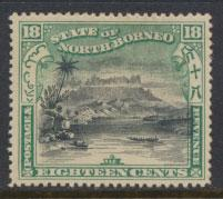 North Borneo  SG 110b Used  perf 15  corrected inscription see scan & details