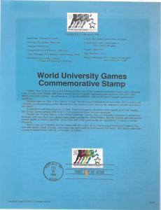 US 2748 WORLD UNIVERSITY GAMES SOUVENIR PAGE