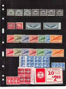 Lot of 65 U.S. Mixed Condition Airmail Stamps Range # C4 - C79b #139971 X R