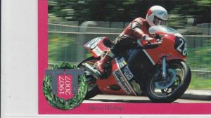 Isle of Man TT 100 Years Centenary Steve Hislop Post Stamps Card ref R 16770