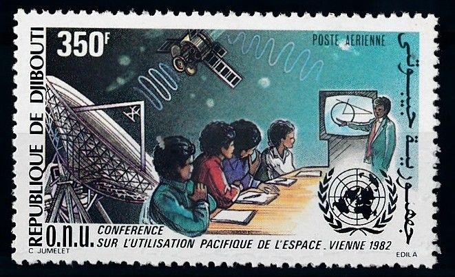 [64199] Djibouti 1982 Space Travel Weltraum Education Satellite Airmail MNH