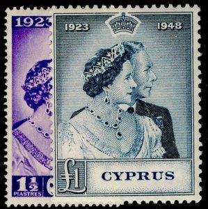 CYPRUS SG166-167, COMPLETE SET, LH MINT. Cat £61. RSW