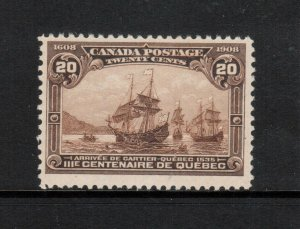 Canada #103 Mint Fine+ Never Hinged