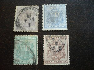 Stamps - Cuba - Scott# 63-66 - Used - Set of 4 Stamps