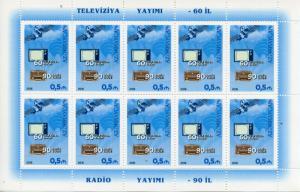 Azerbaijan 2016 MNH Radio 90 Years & Television 60 Years 10v M/S