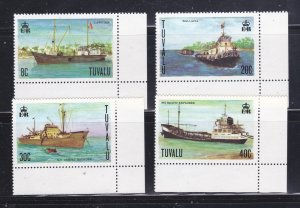 Tuvalu 77-80 Set MNH Ships (A)
