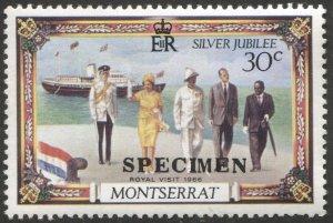 MONTSERRAT 1977  Sc 363  MNH, VF, 30c Silver Jubilee - SPECIMEN Overprint