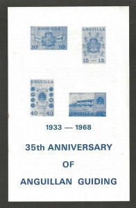 1968 Anguilla Scout 35th anniv Girl Guides stamp publicity folder