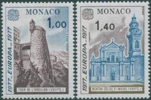 Monaco 1977 SG1302-1303 Europa views set MNH