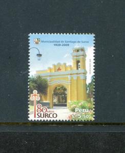 Peru 1694, MNH, Santiago de Surco 80th Ann. 2009. x29608