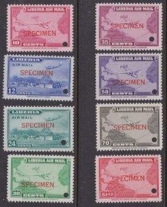 Liberia air mail specimens MNH